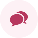 Icon of overlapping speech bubbles